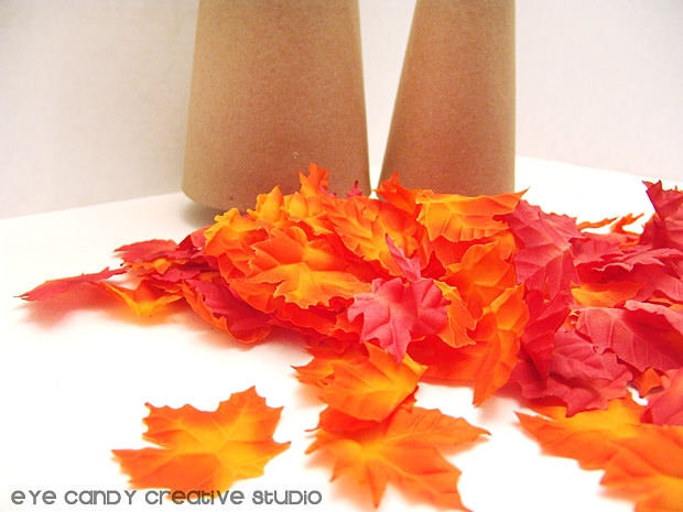 leaves for fall leaf tree, fall home decor, decorating for fall, gluing leaves