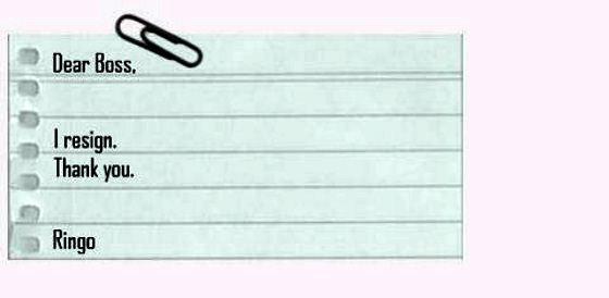 Contoh Terbaik Surat Letak Jawatan
