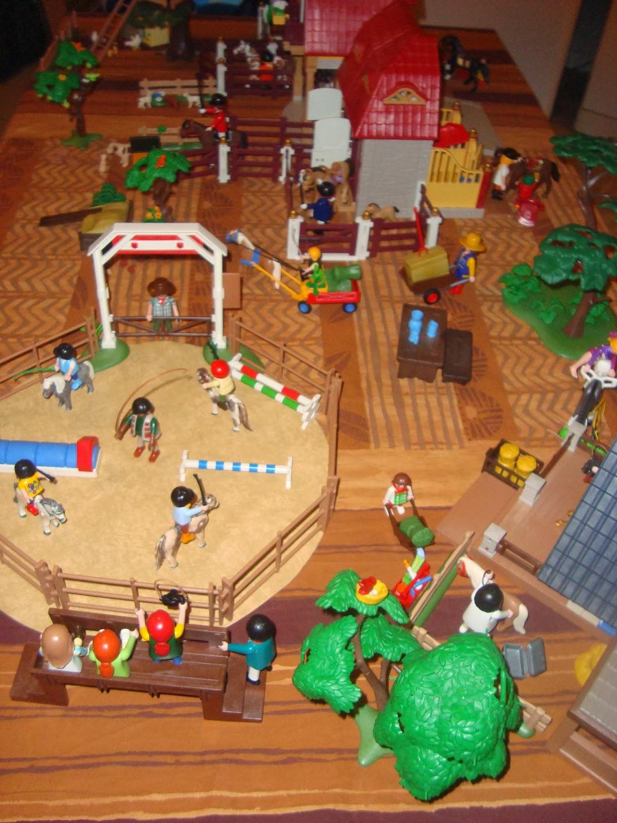 Dioramas playmobil playmobil diorama le haras avec ses - Playmobil haras ...