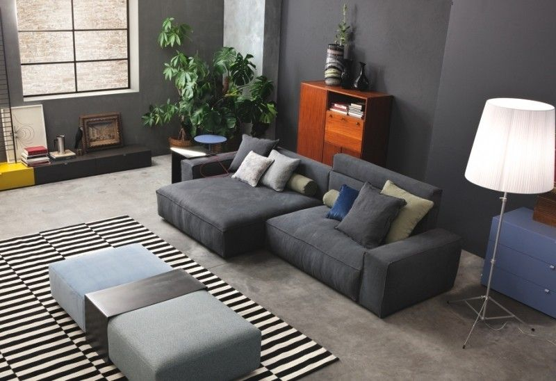 10 salas con sof s color gris salas con estilo for Sofas grises decoracion