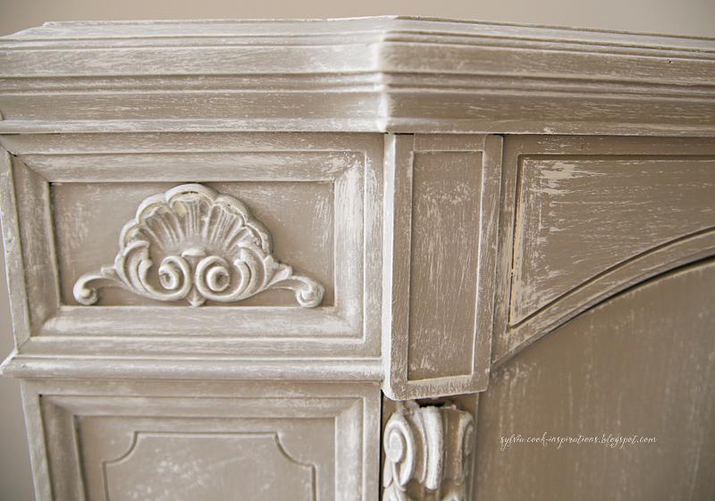 Inspirations chalk paint cabinet makeover for Best brush for painting cabinets