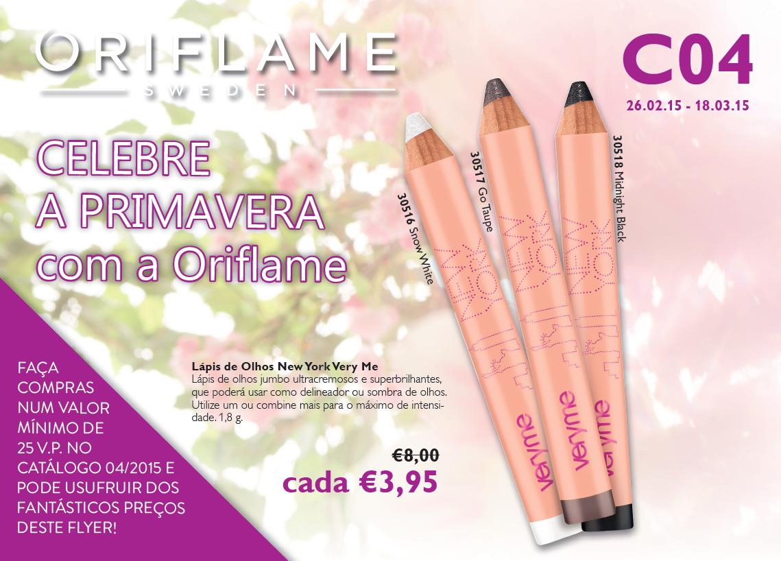 Flyer Oriflame: Catálogo 04 de 2015