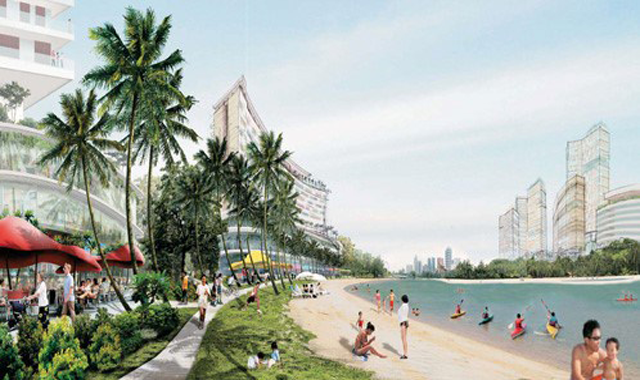 Sports activities along Kallang Riverside's edge
