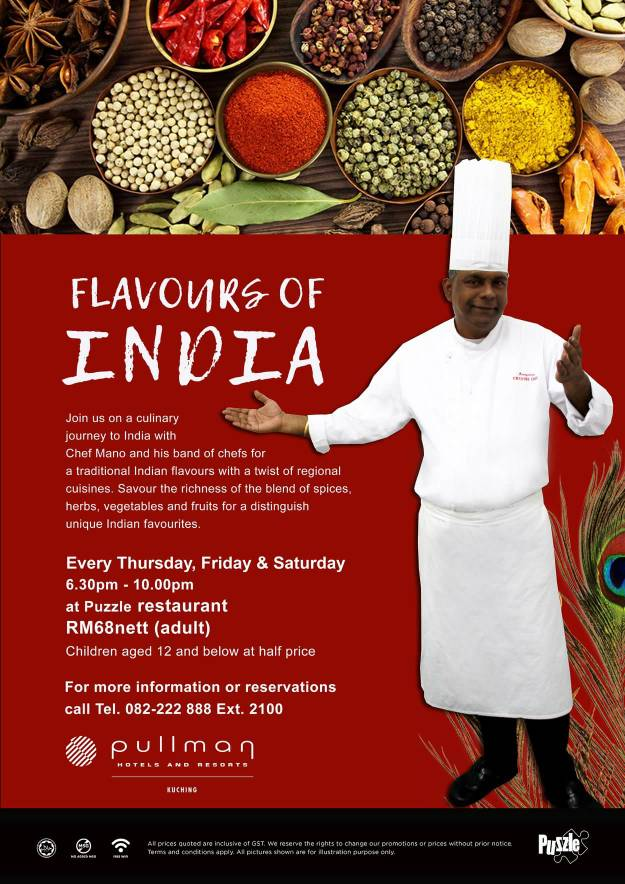 Flavours of India Buffet @ Pullman Kuching