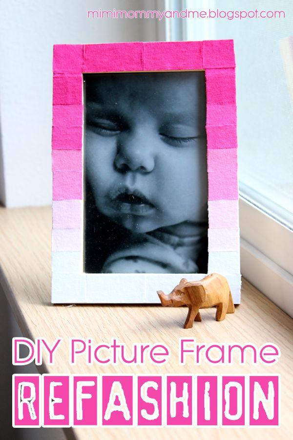 DIY Picture Frame Refashion Tutorial