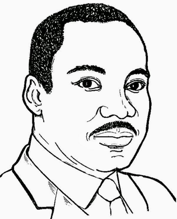 martin luther king color page - print martin luther king jr coloring pages for kids