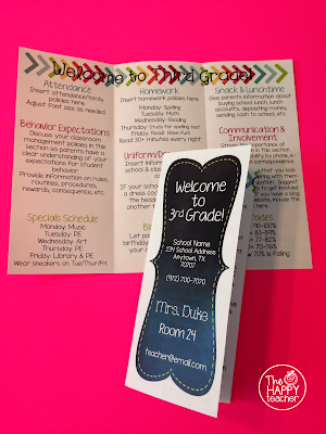 Back to school brochure thehappyteacher for Meet the teacher brochure template