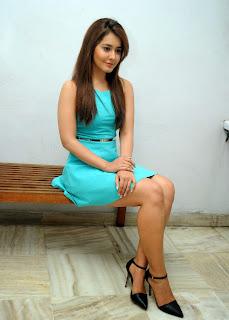 Actress Rashi Khanna  Pictures in Short Dress at Jil Trailer Launch  6.JPG