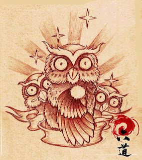 Owl Tattoos Sketching