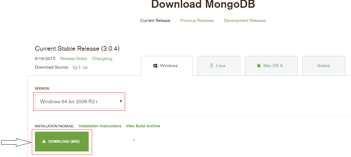 Download mongodb for windows 7 64 bit