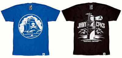 Johnny Cupcakes Martha's Vineyard Pop-Up Shop 2011 Exclusive T-Shirts - MV Ship & Lighthouse T-Shirts