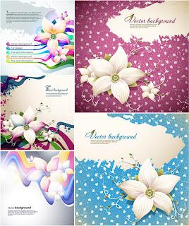 カード・バナーの背景を飾る春の花の背景 abstract flowers for your spring designs イラスト素材