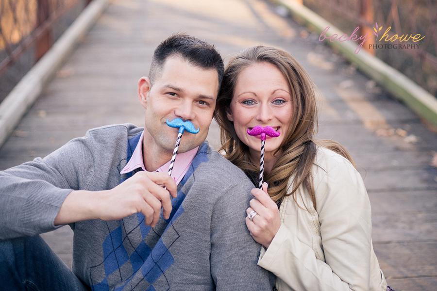 elmwood park engagement photography mustaches