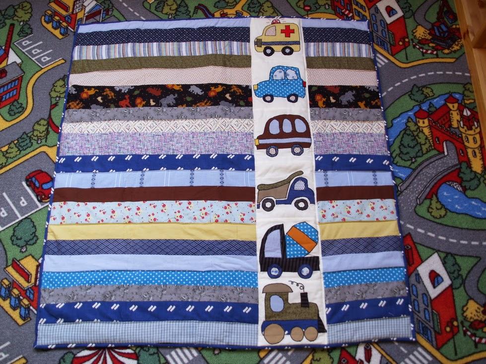 Autós patchwork babatakaró
