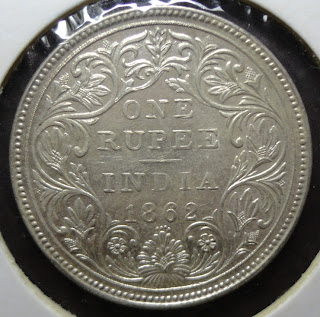 victoria 1862 1 rupee