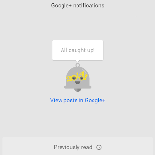 2014 style All Caught Up google plus notification