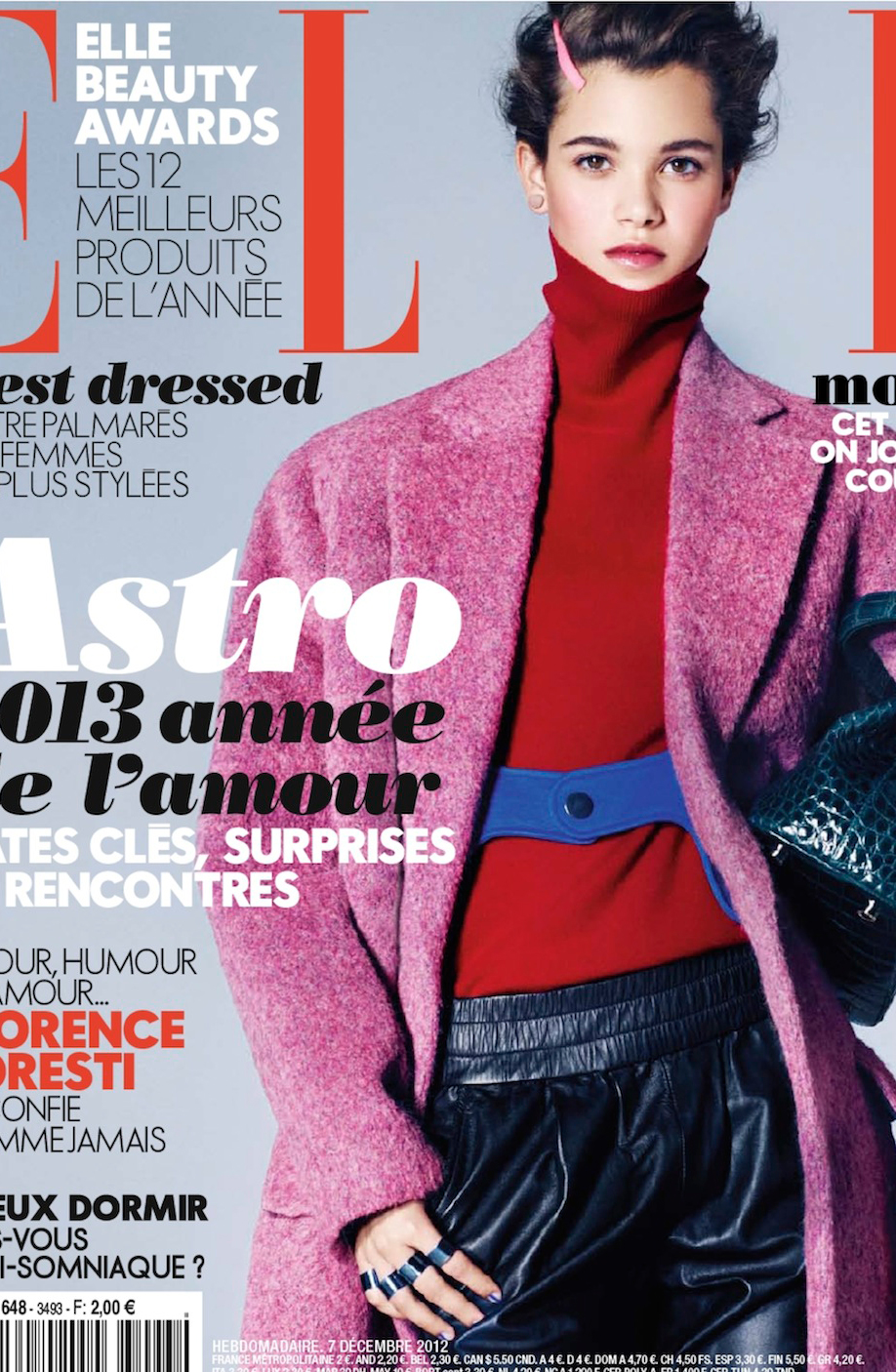 Anne-Marie Van Dijk shares her beauty secrets and favourite beauty products in Elle France December 2012 / via fashioned by love british fashion blog / fashion models beauty secrets / natural beauty / best organic beauty products / tips for shopping in Paris