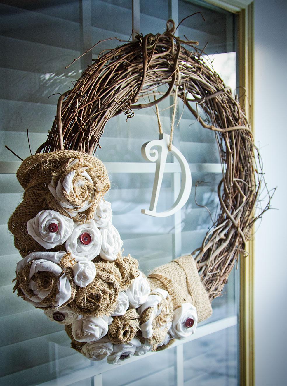 Diy burlap wedding wreath the day i say quot i do quot pinterest