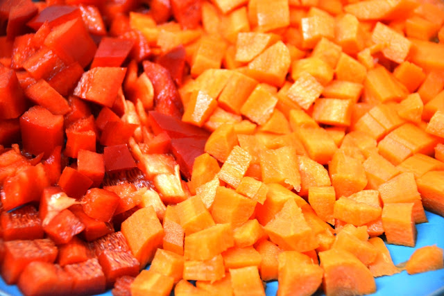 red pepper and carrot
