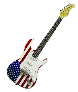 usa flag guitar