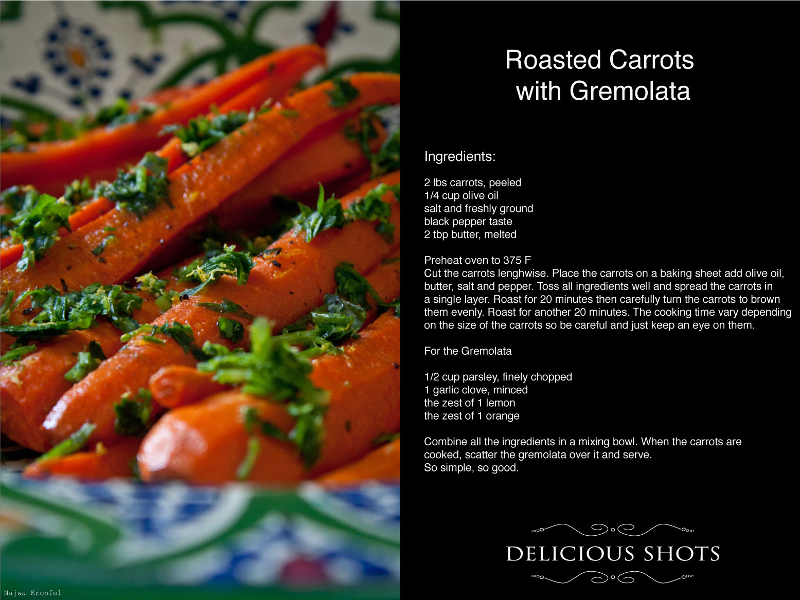More like this: roasted carrots , carrots and butternut squash .