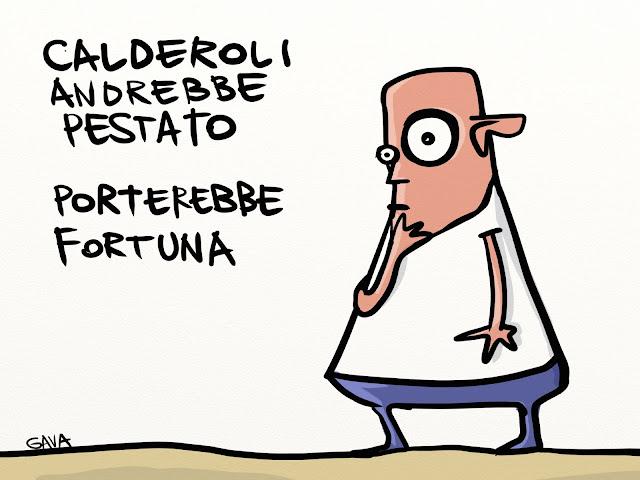 gava gavavenezia vignette illustrazioni satira caricatura calderoli merda orango lega stronzo ignorante testa di cazzo