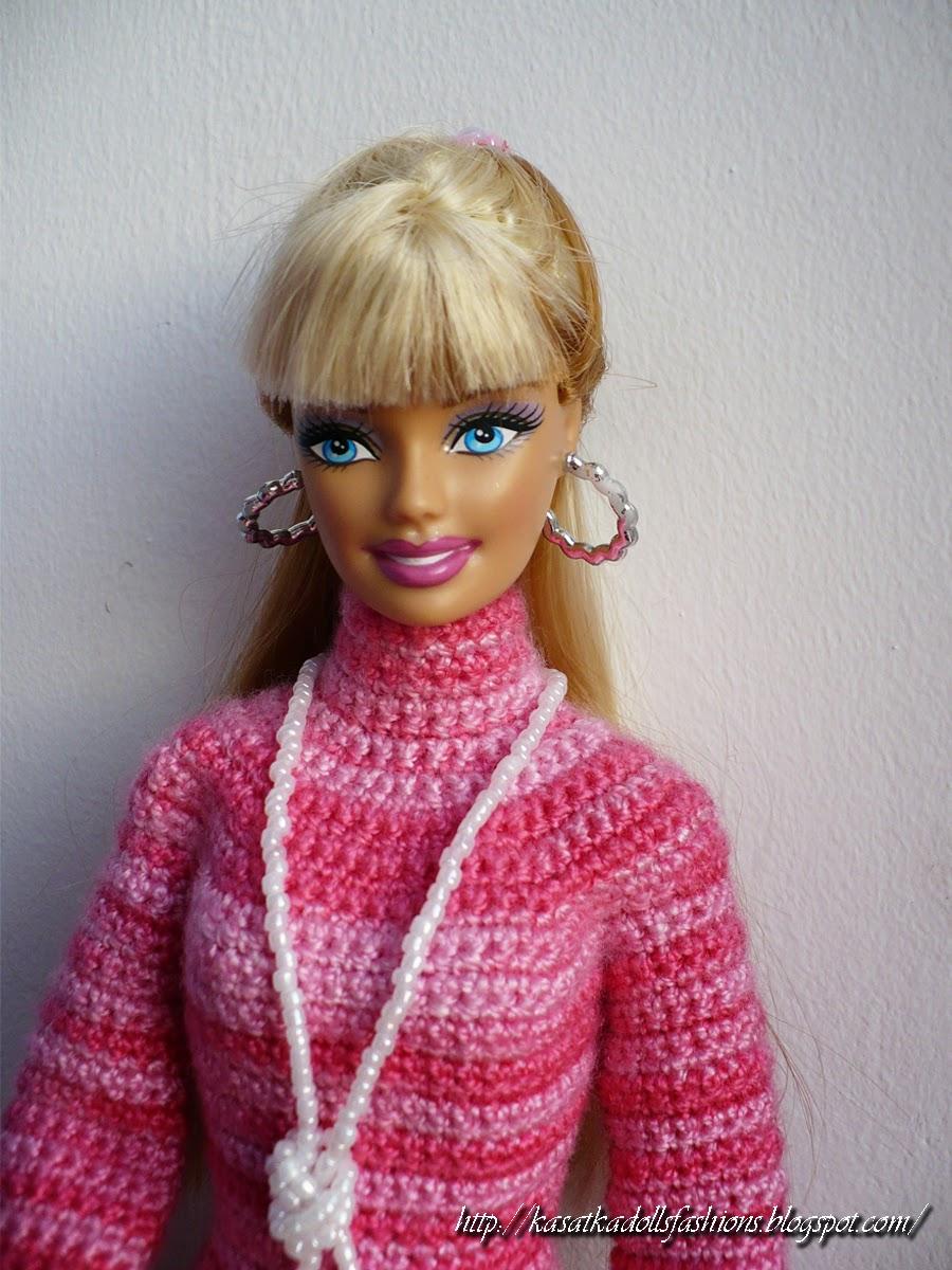 Вязание спицами для начинающих на кукол барби 150