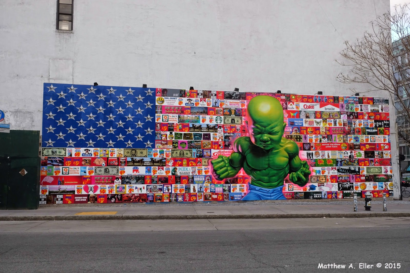 Popular Ron English unveils a new piece at The Bowery Mural in New York City