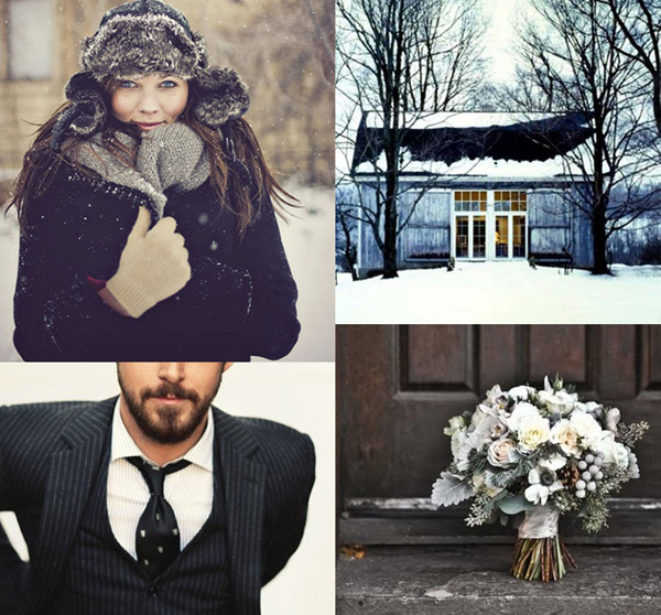 I never really considered having a winter wedding but seeing these