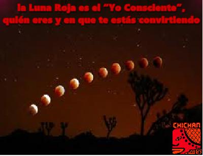 """La Luna Roja es el """"Yo Consciente"""", quién eres y en que te estás convirtiendo."""