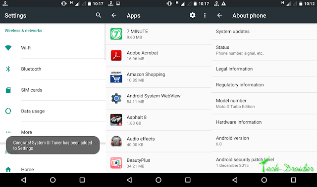 Motorola Moto G Turbo starts receiving Android Marshmallow Screenshots