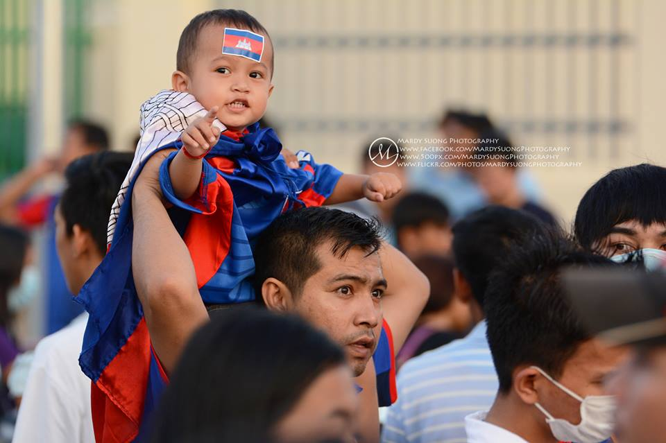 Youngest fan during Asia FIFA World Cup