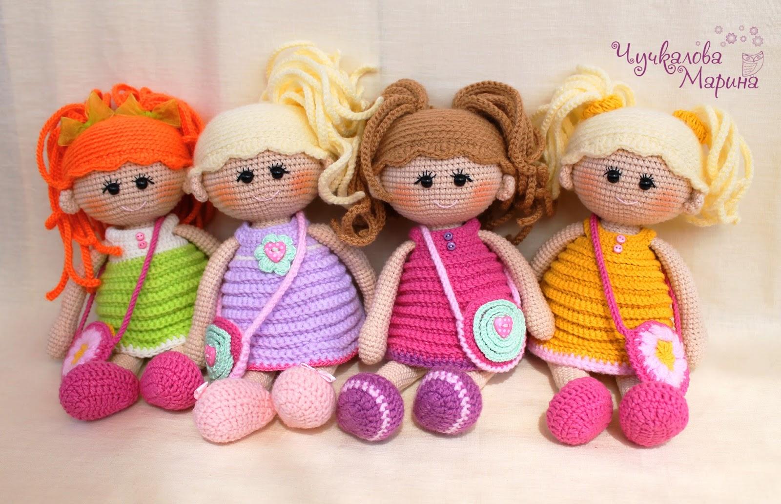 Вязание игрушек крючком кукол