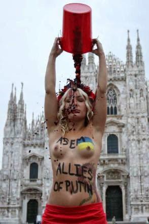 Femen Milano nude Duomo ucraine nude vino rosso