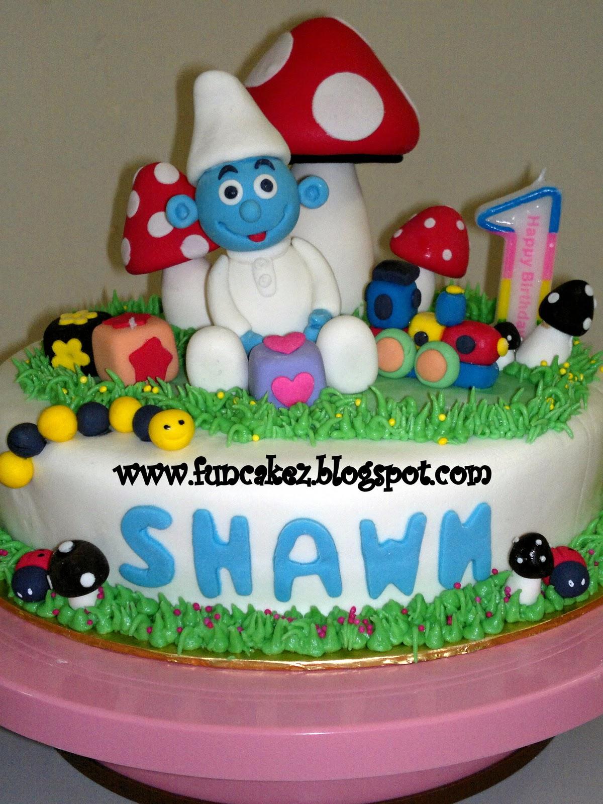 Fun Cakez Baby Smurf Birthday Cake