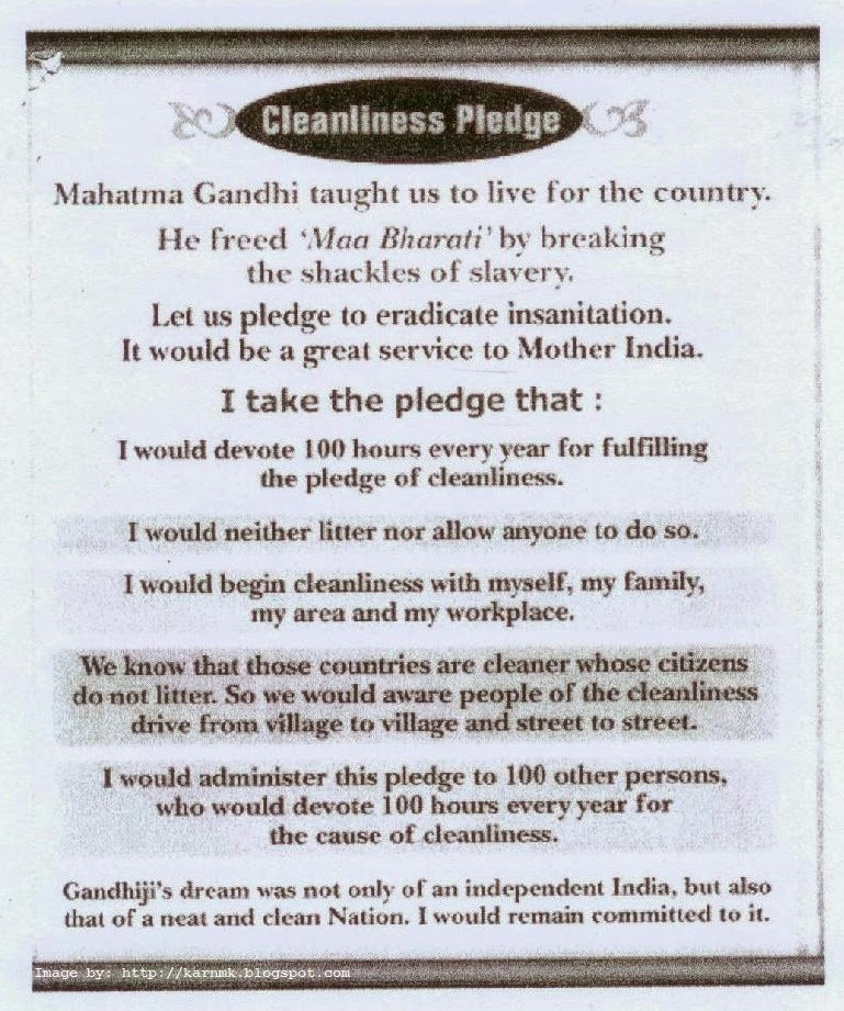 cleanliness+pledge