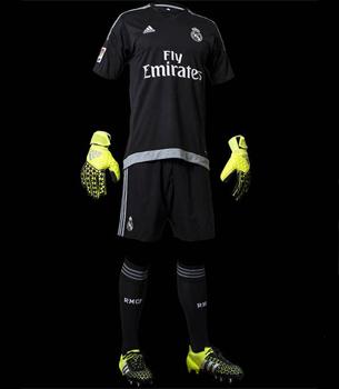 camiseta segunda equipación portero Real Madrid 2015 2016