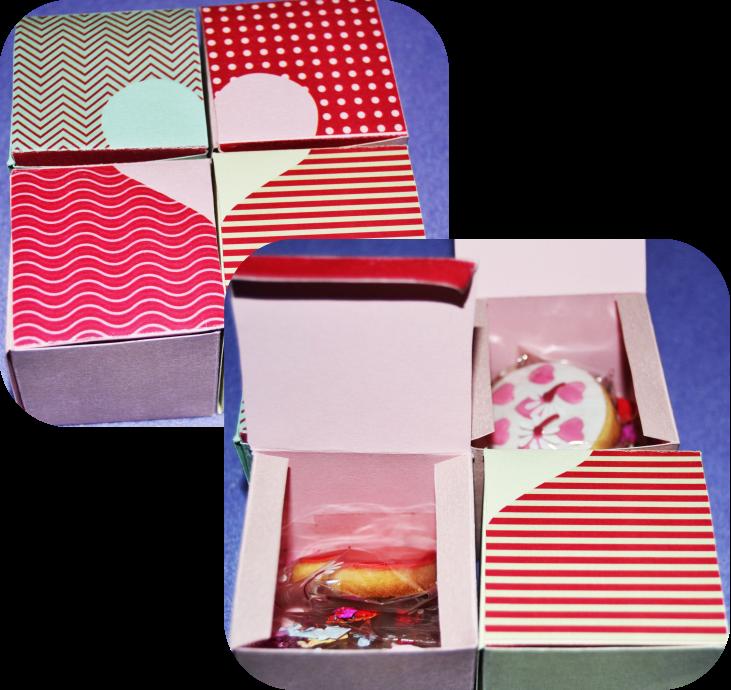 Cajitas imprimibles en forma de corazón San Valentín