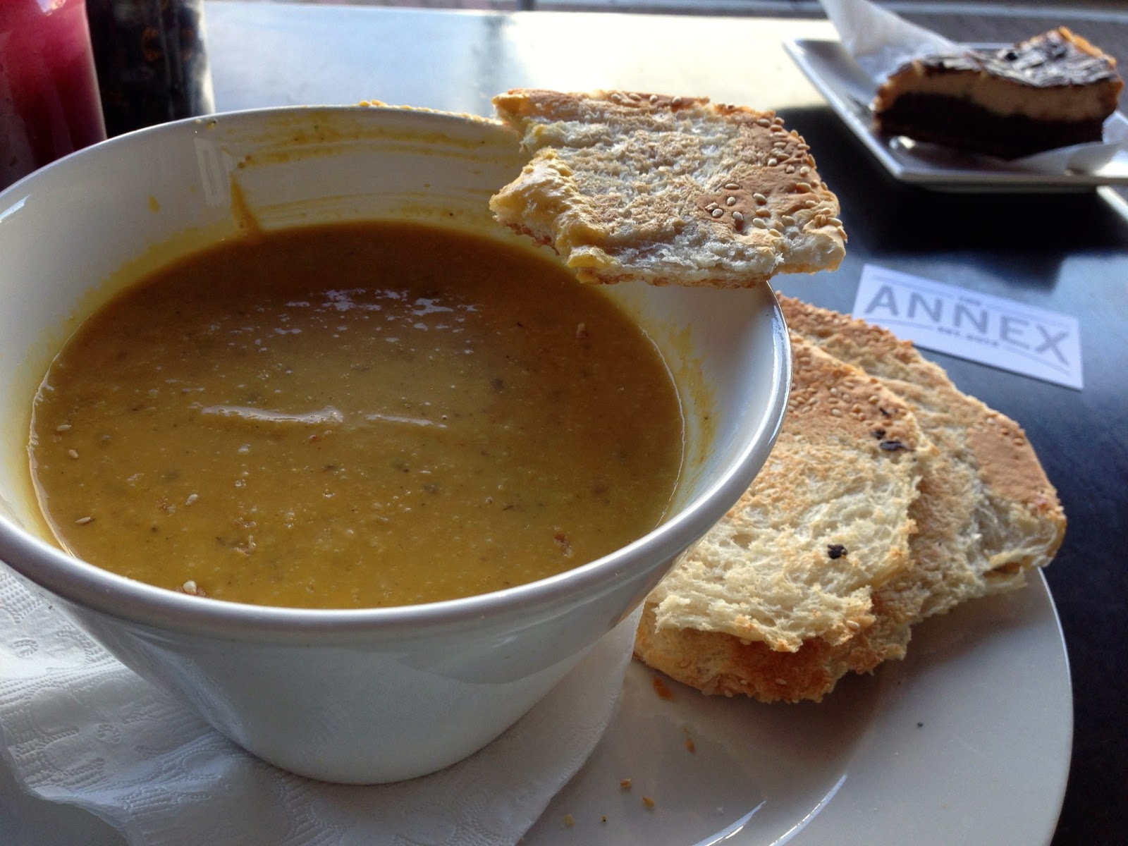 Pumpkin and roasted almond soup - The Annex Cafe, Glenelg