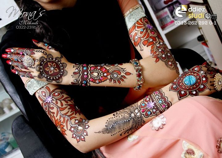 BridalmehndiwwwShe9blogspotcom2528172529 - Embroidered Mehndi