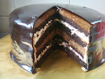 "Double Chocolate Indulgence Cake available in round shape 9"" & 7 """