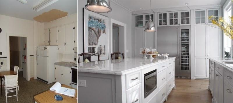 metamorfoza kuchni, wnętrza, biała kuchnia, przemiana, wyspa