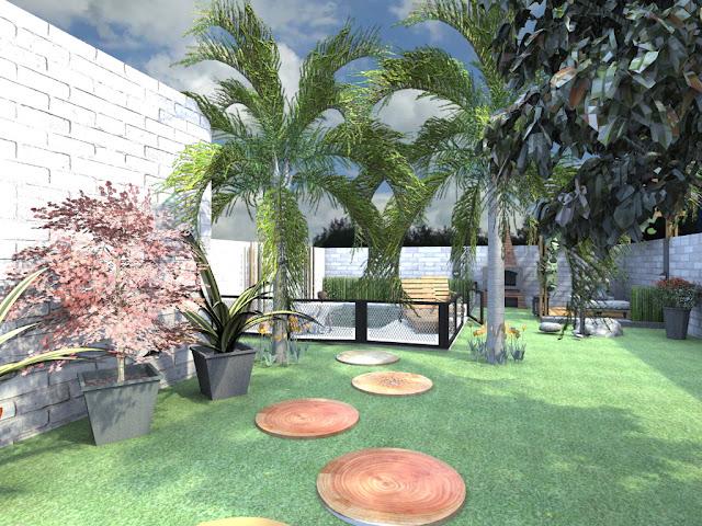 Deco vanguardia parques y jardines dise o exterior for Diseno de jardines 3d