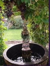 Petite fontaine sous pergola