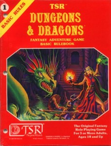 Photo of early D&D Basic Edition Rulebook