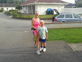 Jag och min löparkompis Alex 6 år.