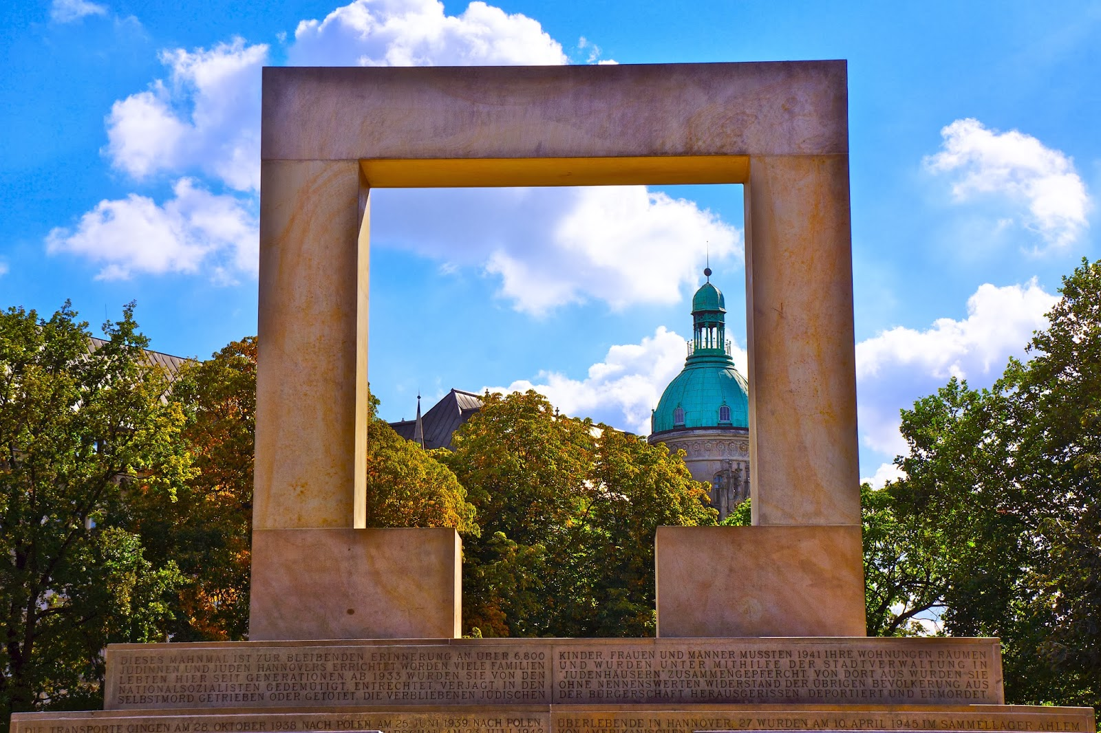 Picture of the Holocaust Monument in Hanover, Germany by Michelangelo Pistoletto.