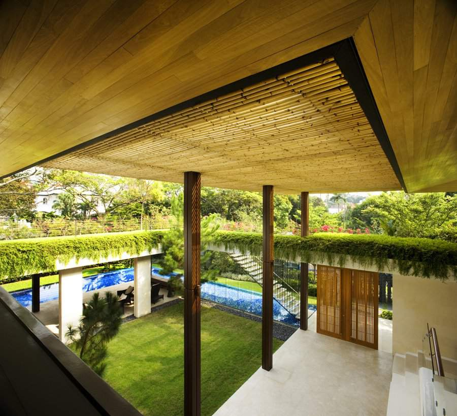 Contemporary tropical house tanga house modern home for Tropical house plans with courtyards