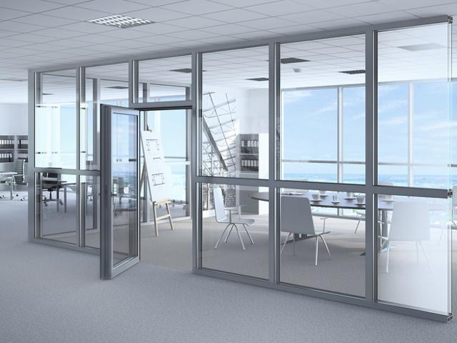Reynaers aluminio y arquitectura ci 45 sistema para for Divisiones interiores