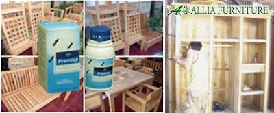 Pemberian Anti Rayap Allia Furniture